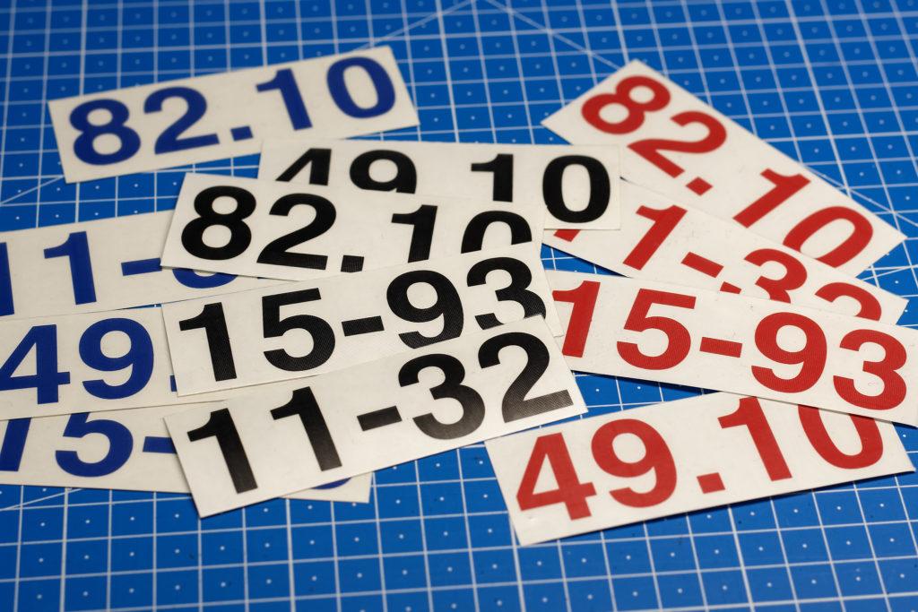 Helmnummern