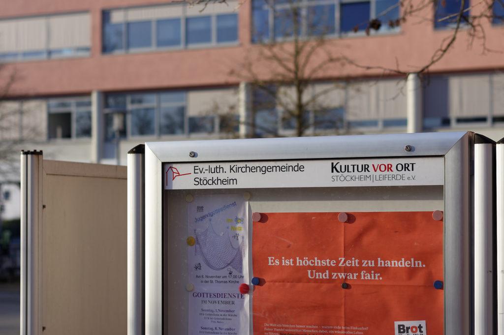 """Die neue Einsteckleiste der Ev.-luth. Kirchengemeinde am Stöckheimer Markt mit dem Logo des Vereins """"Kultur vor Ort"""""""